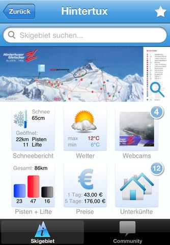 Ski The World Ski Gebiete iPad App 2012 2