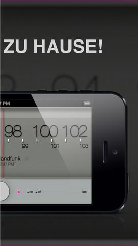 homesickFM Radio App iPhone 2013 Mai 2